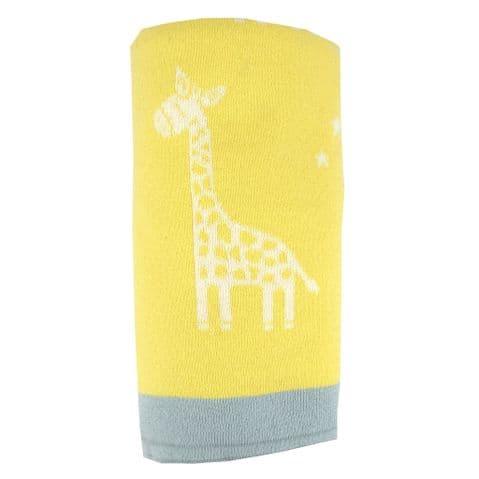 V48989 - Giraffe Reversible Baby Blanket 2/PK