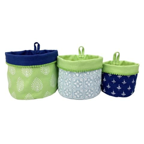 V49153 - Indian Summer Canvas Storage Pots S/3 4/PK