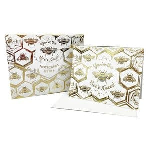 V49252 - Bees Note Cards S/8 6/PK