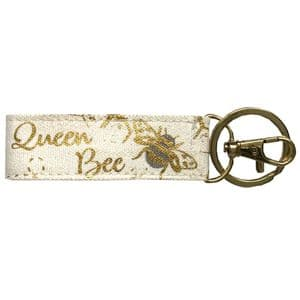 V49290 - Bee Canvas Key Ring 6/PK