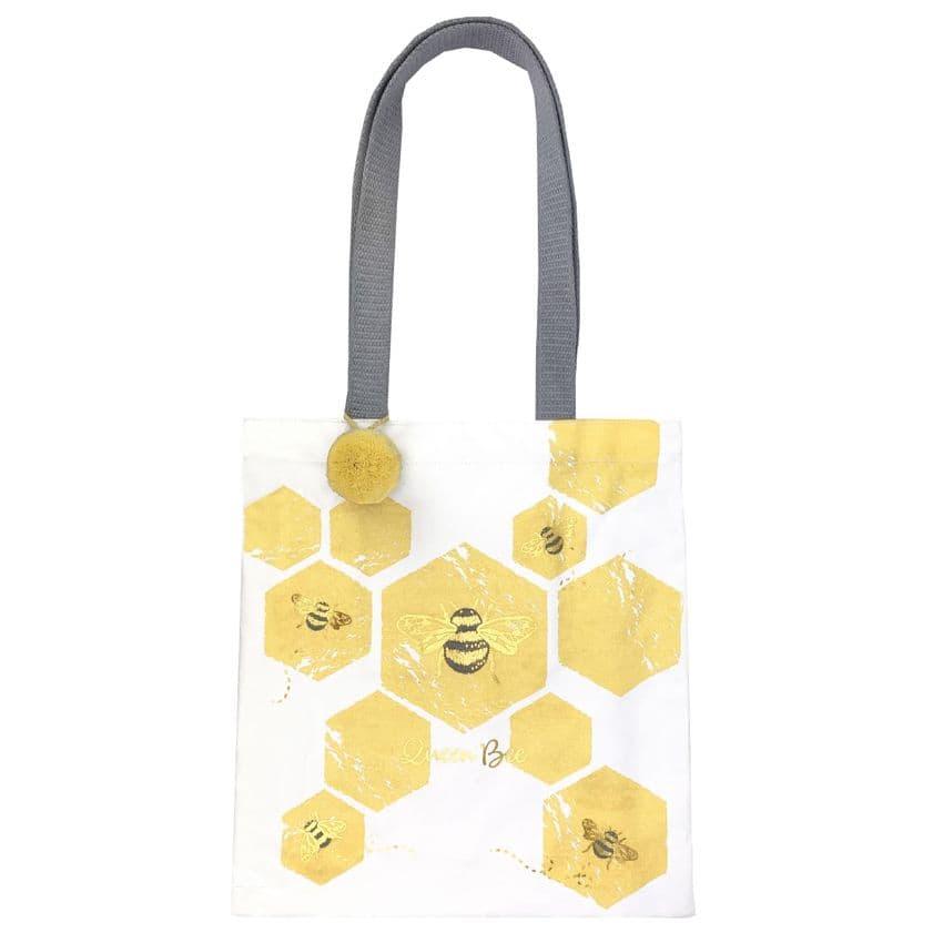 V49313 - Bee Canvas Market Tote 4/PK