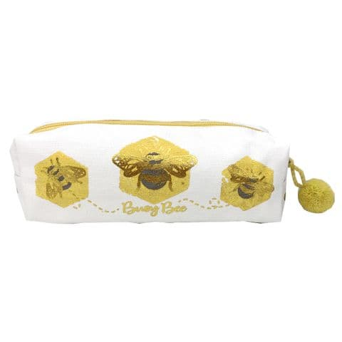 V49368 - Bee Canvas Pen Pouch 4/PK