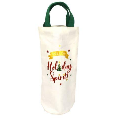 V49658 - Holiday Spirit' Washed Canvas Bottle Tote - CBB441 6PK