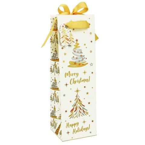 V49672 - Christmas Trees Bottle Bag with tag - GBG324BX.00 10PK