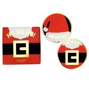 V49696 - HO HO HO Coasters S/8 - COA442 4PK