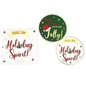 V49702 - Holiday Spirit Coasters S/8 - COA441 4PK