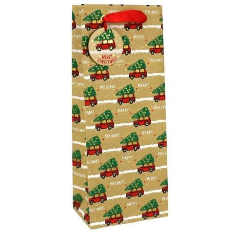 V50081 - Christmas Minis Bottle Bag & Tag - GBG425B.100 10PK