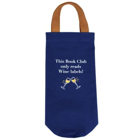 V50326 - Book Club Canvas Bottle Tote - WCBB447.46 6PK