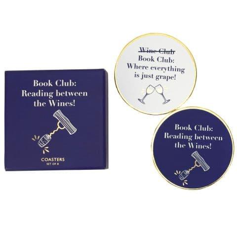 V50395 - Book Club Coaster - COA444 4PK