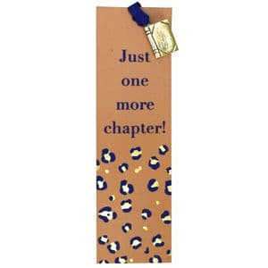 V50425 - Just One More Chapter Leather book Mark - LBM453.100 6PK
