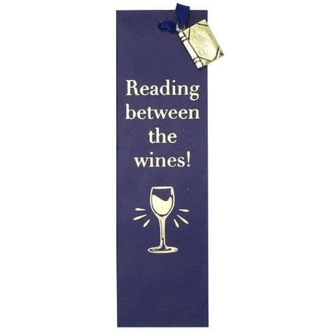 V50432 - Reading Between The Wines Leather Book Mark - LBM452.46 6PK
