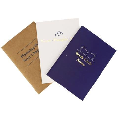 V50449 - Adult Set of 3 Paper Notebooks - NB457A6 6PK