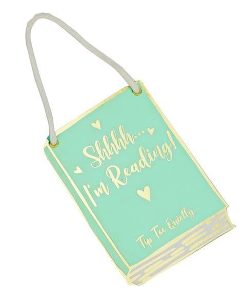 V50487 - Shh Im Reading Door Sign - DS459 6PK