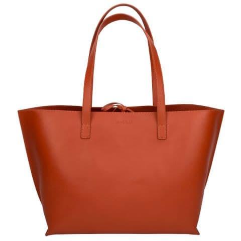 V50531 - Large Leather Tote Orange - LLTB.57