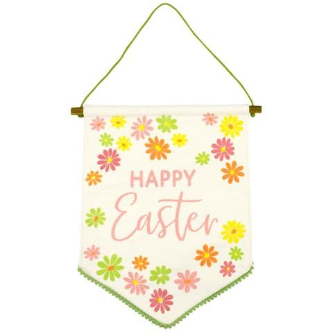 V51491 - Happy Easter Hanging Cotton Pennant - HCPEN475 6/PK