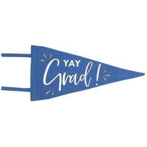 V51767 - Yay Grad Canvas Pennant - TPEN.YAYGRAD 6/PK