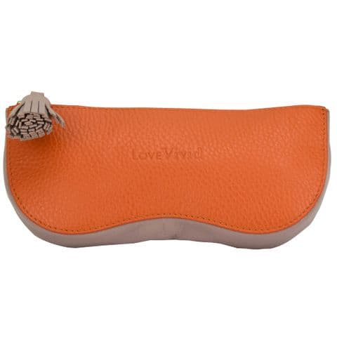 V51866 - Leather Sunglasses Case Orange - SLSGC.57 2/PK
