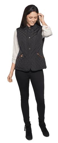 ❤️ Up to Plus ❤️ Womens Luxury Diamond Quilted Gilet db551