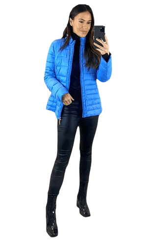 ❤️ Up to Plus ❤️ Womens Short Faux Down Quilted Fashion Jacket db435