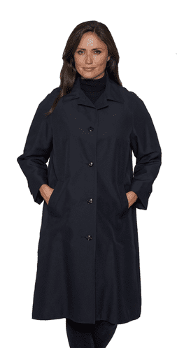 Ladies Black Full Length Lightweight Rain Coat db1488