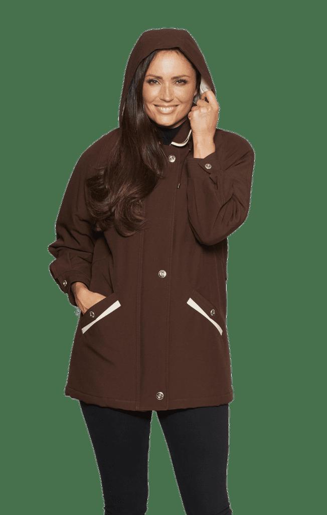 Ladies Padded Hooded Rain Jacket  db1197