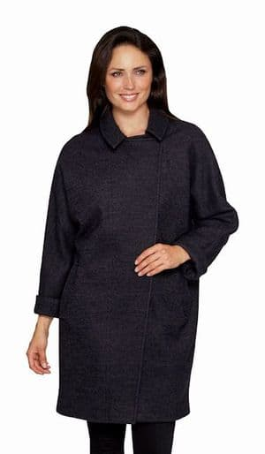 Womens Airforce Blue Cocoon Coat K1441