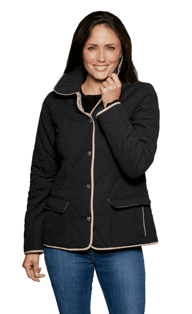 Womens Black Diamond Quilted Jacket db907