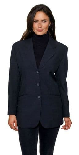 Womens Black Single Breasted Blazer db368