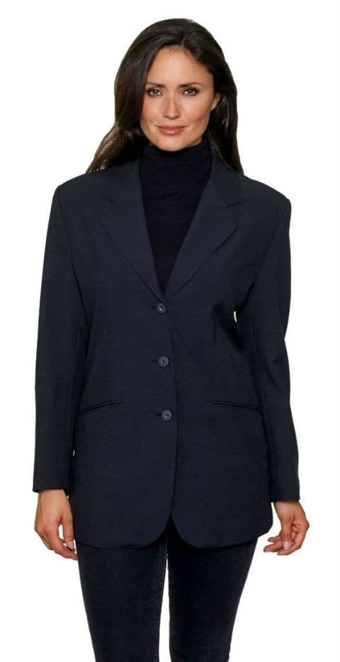 Womens Black Single Breasted Blazer db368