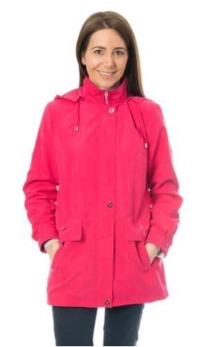 Womens Cerise Lightweight Hooded Rain Jacket db684