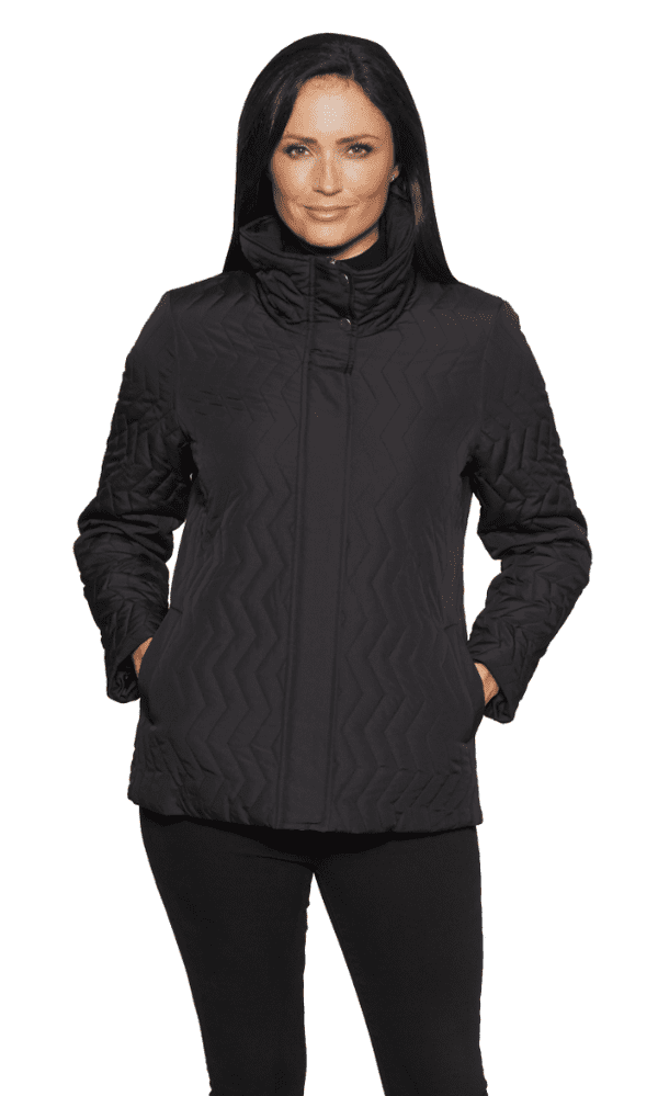 Womens Chevron Stitched Quilted Jacket db1416