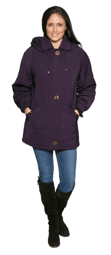 Womens Classic Hooded Quilted Warm Rain Jacket db901