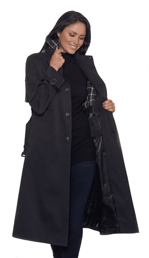 Womens Generous Fit Classic Luxury Trench Coat db3007