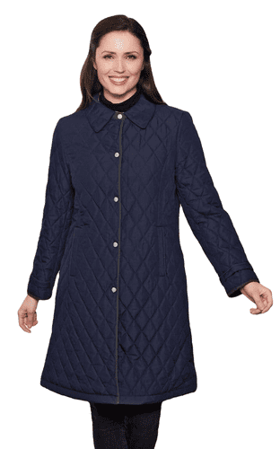 Womens Lightweight Diamond Stitch Coat db108