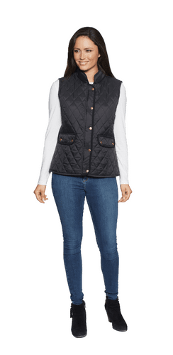 Womens Luxury Corduroy Trim Padded Gilet db401