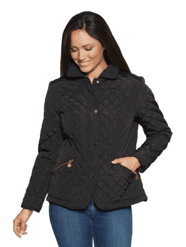 Womens Luxury Diamond Quilt Jacket db553