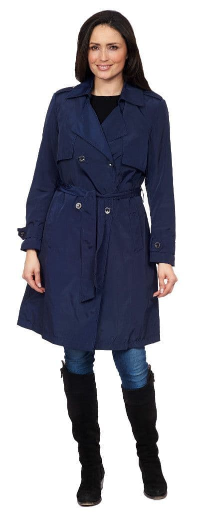 Womens ❤️Plus❤️ Navy Trench Coat db290