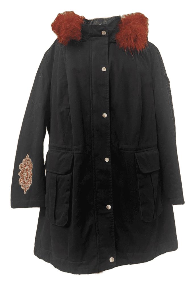 Womens ❤️Plus❤️ Warm Black Parka Coat db0901