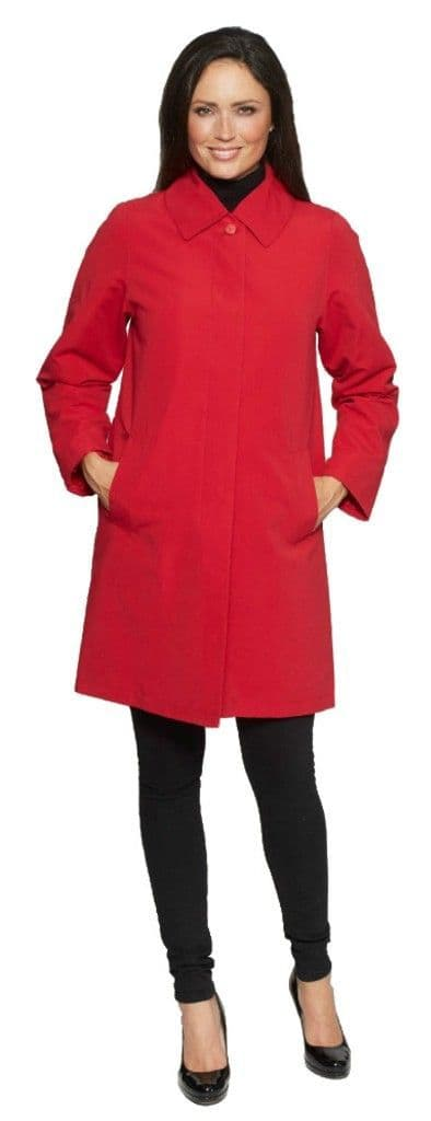 Womens Red Showerproof Rain Coat db696