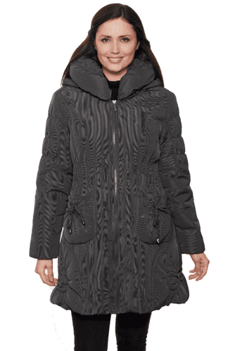 Womens Short Warm Quilted Hooded Winter Stone Coat db426