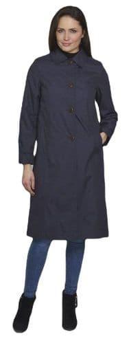 Womens Showerproof Trench Rain Mac Coat db1698