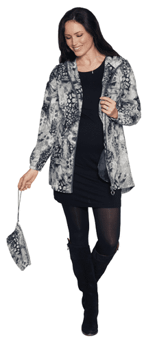 Womens Silky Lightweight Travel Cobweb Print Jacket db3127
