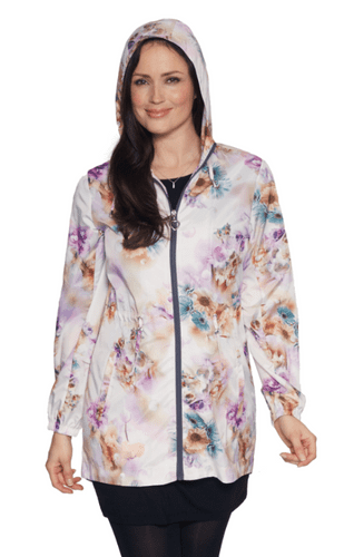 Womens Silky Lotus Print Lightweight Travel Jacket db3127