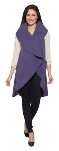 Womens Sleeveless Waterfall Wrap Coat K1670