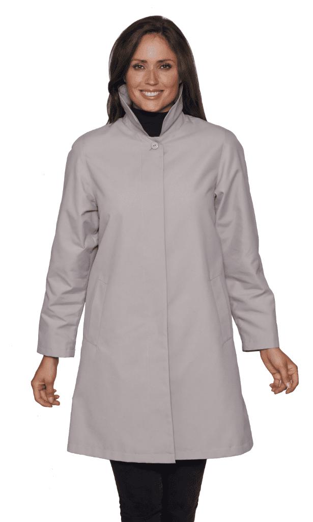 Womens Stone Showerproof Rain Coat db696