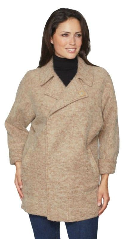 Womens Warm Double Breasted Cocoon Jacket K1441