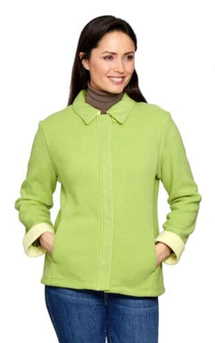 Womens Warm  Green Lined Fleece Jacket db602001