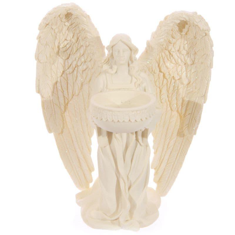 Angel Tealight Holder Cream - Kneeling