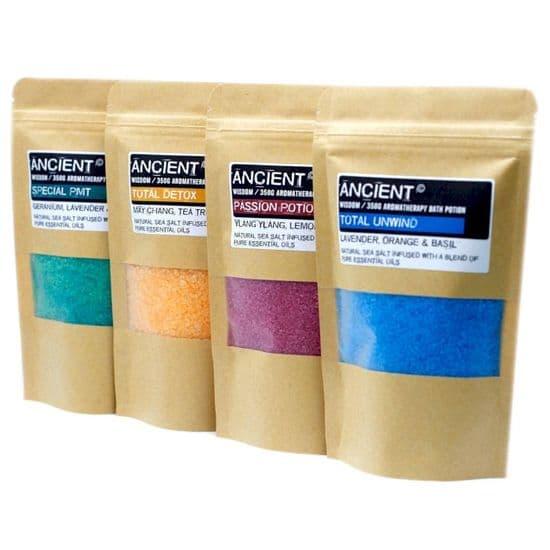 Aromatherapy Bath Potions in Kraft Bags - 350g