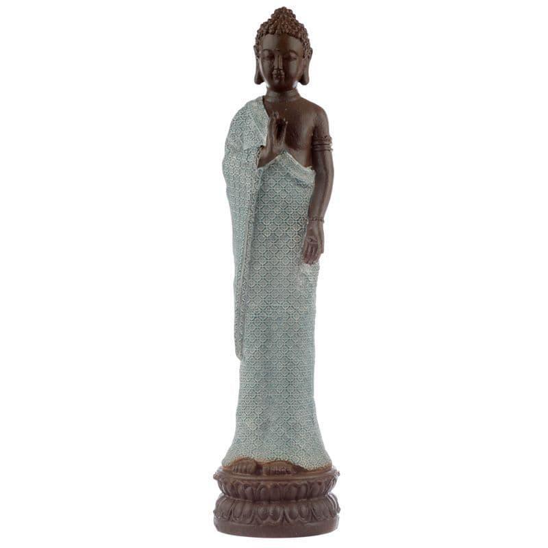 Buddha Figurine - Serenity - Turquoise & Brown